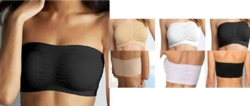 Women Ladies Sports Bra Bandeau Boob Tube Crop TOP Bras S-XXL